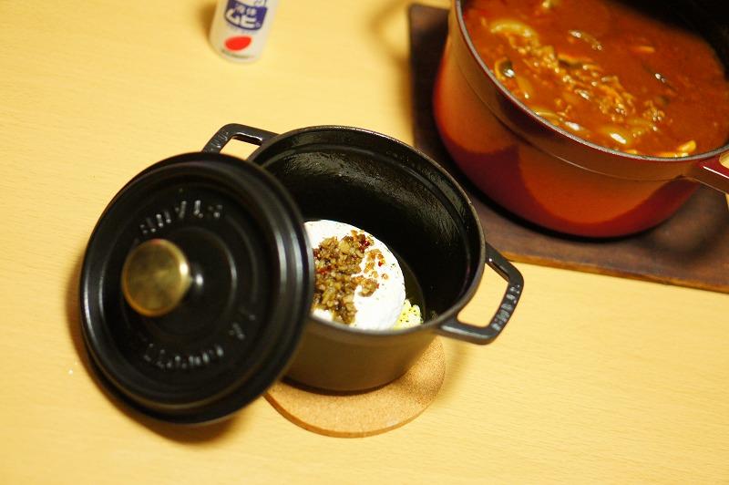 焼きカマンベールとハッシュドビーフ