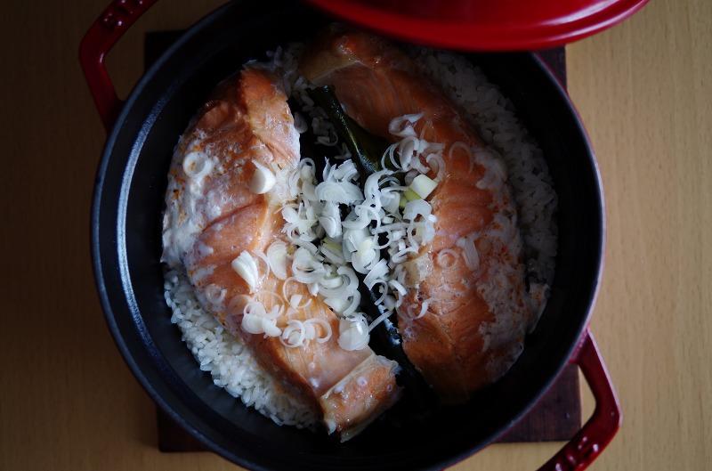 鮭のわっぱ飯